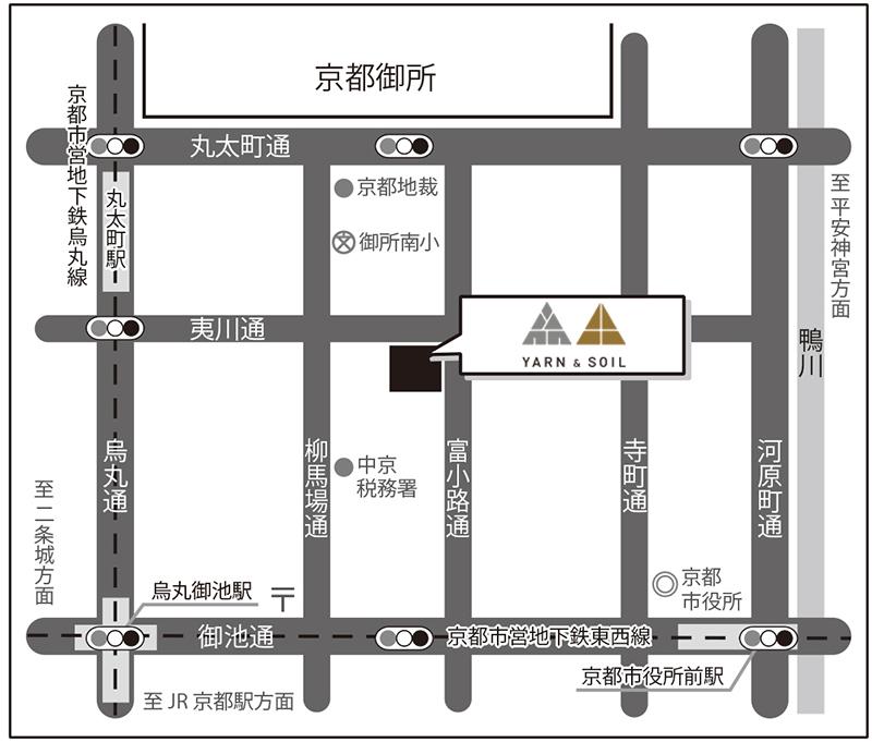お店の地図┃YARN & SOIL